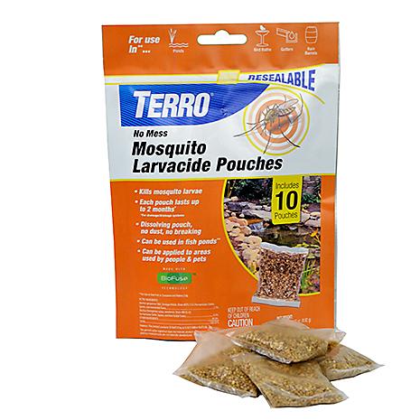 mosquito larvacide pouches