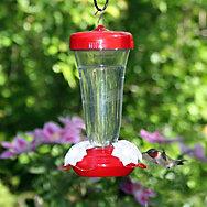 Perky-Pet® Etched Top-Fill Plastic Hummingbird Feeder - 16 oz Nectar Capacity