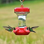 "Perky-Pet® ""Perky's Finest"" 8 oz Top Fill Glass Hummingbird Feeder"