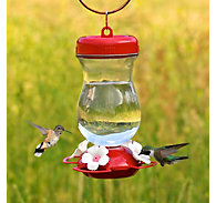 "Perky-Pet® ""Perky's Finest"" 24 oz Top Fill Glass Hummingbird Feeder"
