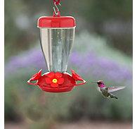 Perky-Pet® 16 oz Red Hibiscus Top Fill Plastic Hummingbird Feeder