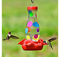 Perky-Pet® Colorful Dots Glass Hummingbird Feeder