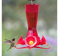 Perky-Pet® Pinch-Waist Red Glass Hummingbird Feeder