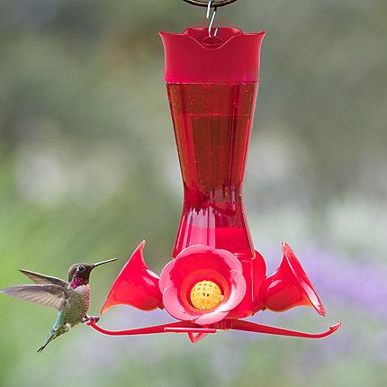 Perky-Pet® Pinch-Waist Red Glass Hummingbird Feeder - 8 oz Nectar Capacity