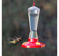 Perky-Pet® Clear Plastic Hummingbird Feeder - 8 oz Nectar Capacity