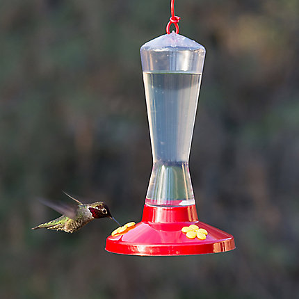 Perky-Pet® Clear Plastic Hummingbird Feeder - 8 oz Nectar Capacity