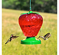 Perky-Pet® Strawberry Plastic Hummingbird Feeder - 48 oz Nectar Capacity