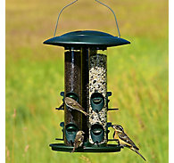 Perky-Pet® Safari Triple Tube Wild Bird Feeder - 6 lb Seed Capacity