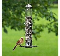 Perky-Pet® Silver 2-in-1 Wild Bird Feeder