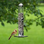 Perky-Pet® Silver 2-in-1 Wild Bird Feeder - 1.8 lb Seed Capacity