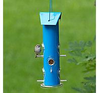 Perky-Pet® Blue Metal Tube Bird Feeder