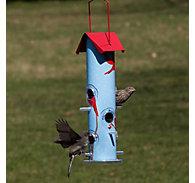 Perky-Pet® Cardinal Metal Tube Bird Feeder - 1 lb Seed Capacity