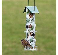 Perky-Pet® Pine Metal Tube Bird Feeder - 1 lb Seed Capacity