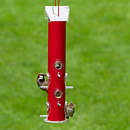 Perky-Pet® Red Metal Tube Bird Feeder