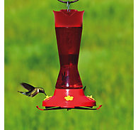 Perky-Pet® Pinch Waist Plastic Hummingbird Feeder - 16 oz Nectar Capacity