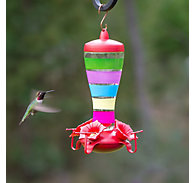 Perky-Pet® Colorful Stripes Glass Hummingbird Feeder