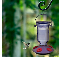 Perky-Pet® Lavender Field Top-Fill Glass Hummingbird Feeder