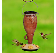 Perky-Pet® Sugar Maple Top-Fill Glass Hummingbird Feeder