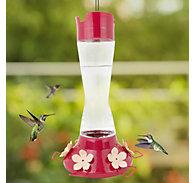 Perky-Pet® Top-Fill Favored Pinch-Waist Glass Hummingbird Feeder