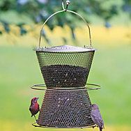 Perky-Pet® Hourglass® Brass Wild Bird Feeder - 6 lb Seed Capacity