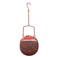 NO/NO® Red Seed Ball Wild Bird Feeder