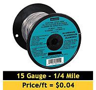 Zareba® Aluminum Wire, 15 Gauge,  1/4 Mile
