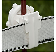 Zareba® White Poly Tape Round Post Insulator