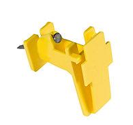 Zareba® Yellow Poly Tape Wood Post Insulator
