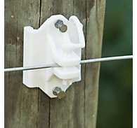 Zareba® White Pin-Lock Wood and T-Post Insulator