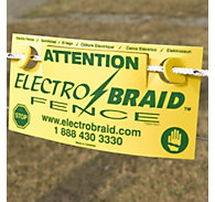 ElectroBraid® Fence Warning Sign
