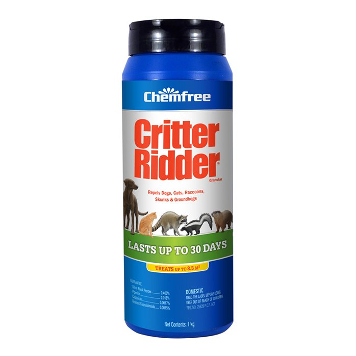 CHEMFREE CRITTER RIDDER ANIMAL REPELLENT - 1 KG