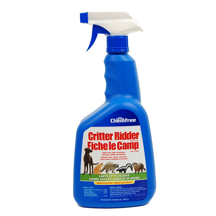 CHEMFREE CRITTER RIDDER LIQUID ANIMAL REPELLENT 940ML
