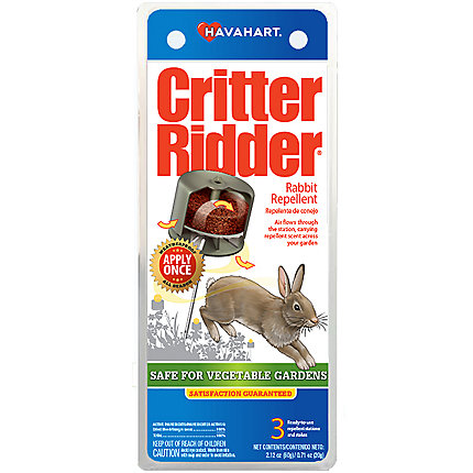 Critter Ridder® Weatherproof Rabbit Repelling Stations - 3 Pack