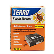 TERRO® Roach Magnet® Trap with Exclusive Pheromone Technology - 12 Traps