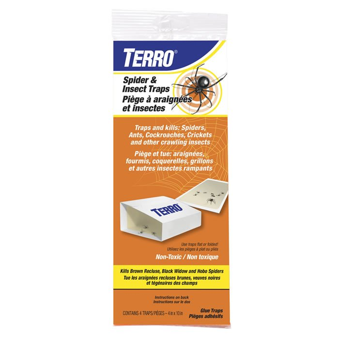TERRO Crawling Insect Glue Board - 4 Pack