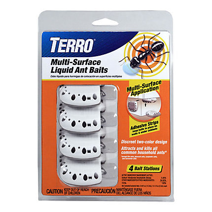TERRO® Multi-Surface Liquid Ant Baits – 4 Discreet Bait Stations