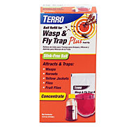 TERRO® Wasp & Fly Trap Plus Fruit Fly - Refill