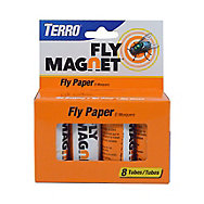 TERRO® Fly Magnet® Sticky Fly Paper Trap – 8pk
