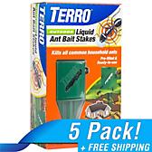 TERRO® Outdoor Liquid Ant Bait Stakes - 5 Pack