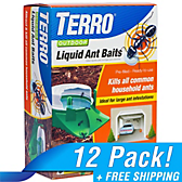 TERRO® Outdoor Liquid Ant Baits - 12 Pack