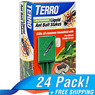 TERRO® Outdoor Liquid Ant Bait Stakes - 24 Pack