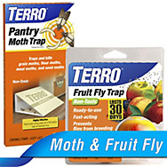 TERRO® Fruit Fly Trap and Pantry Moth Trap Combo