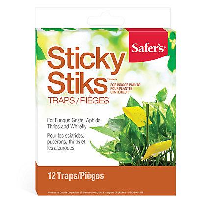 Safer S 174 Sticky Stiks Fungus Gnat Traps Woodstream Canada