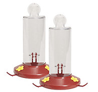 Perky-Pet® Window Mount Plastic Hummingbird Feeder - 2 Pack - 8 oz Nectar Capacity