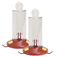 Perky-Pet® Window Mount Plastic Hummingbird Feeder - 2 Pack