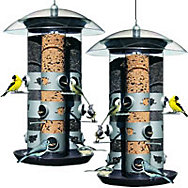 Birdscapes® 2-in-1 Triple Tube Feeder - 2 Pack