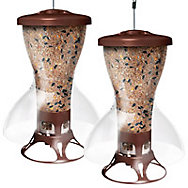 Perky-Pet® Fortress® The Bird Shelter Squirrel Proof Bird Feeder - 2 Pack