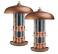 Perky-Pet® Copper Finish Triple Tube Bird Feeder - 2 Pack