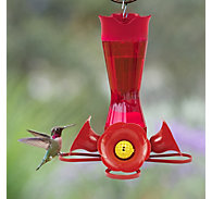 Perky-Pet® Pinch-Waist Red Glass Hummingbird Feeder - 8 oz Nectar Capacity