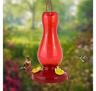 Perky-Pet® Ruby Red Plastic Hummingbird Feeder 19 oz